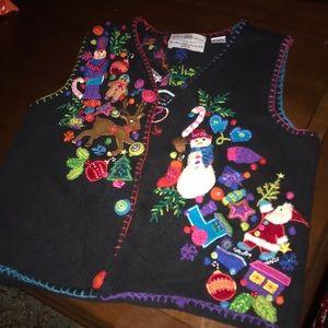 Amazing ugly Christmas sweater that-won 1st place